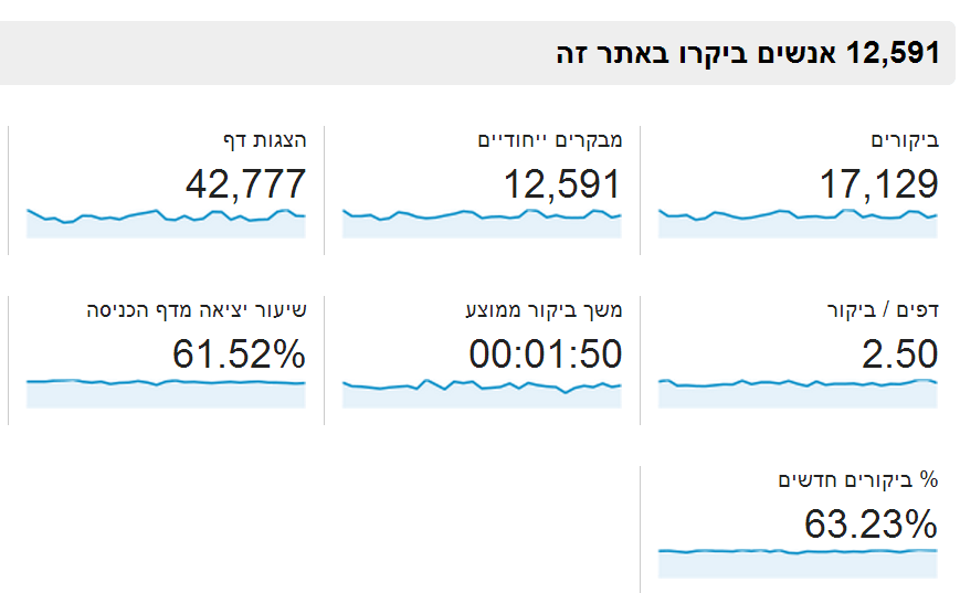 google analytics תנועה